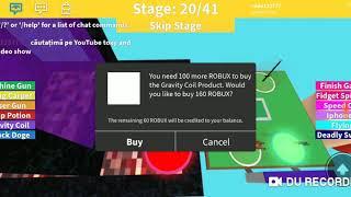 I got to a Minecraft portal on SpongeBob coaster Obby ROBLOX