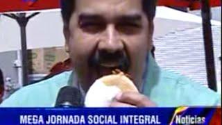 Nicolás Maduro le desprecia una arepa al pueblo