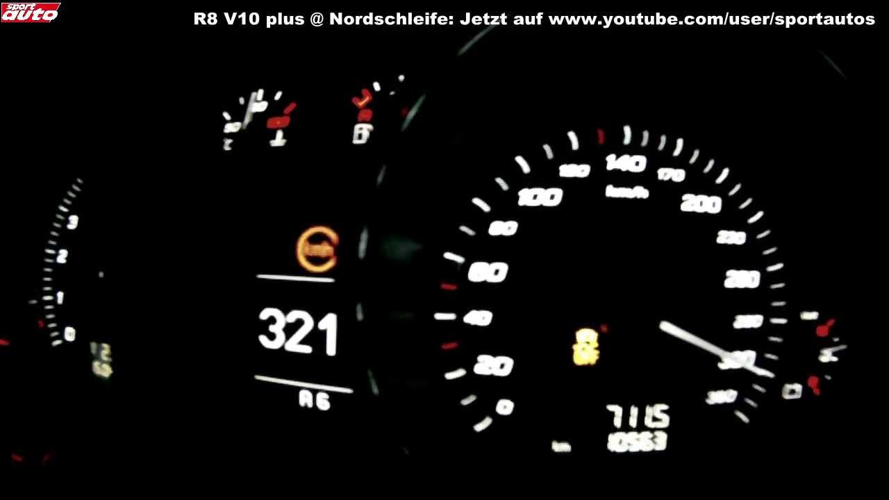Ordinaire 2013 Audi R8 V10 Plus 0 338 Km/h Top Speed Launch Control Test Sport Auto    YouTube