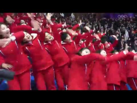 North Korean cheering squad at the Winter Olympics 2018