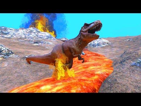 UEBS - Dinosaur Extinction by Volcano! - Ultimate Epic Battle Simulator Gameplay