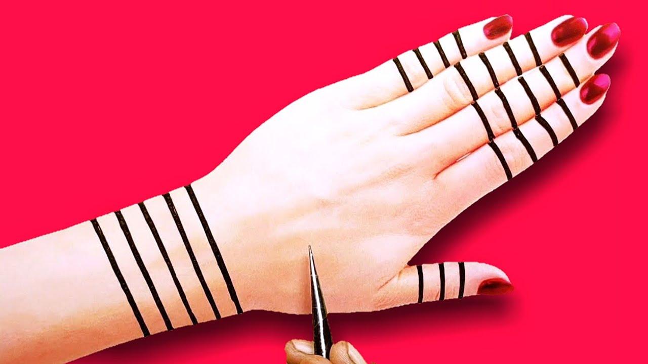 easy trick back hand mehndi design-beautiful Arabic Henna mehndi design-वट पौर्णिमा मेहंदी डिजाइन