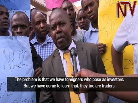 Kampala traders protest against Chinese business owners