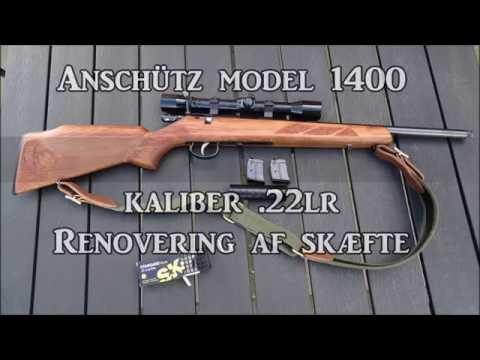 Anschütz  22lr Gunstock renovation and stippling  Skæfte-renovering