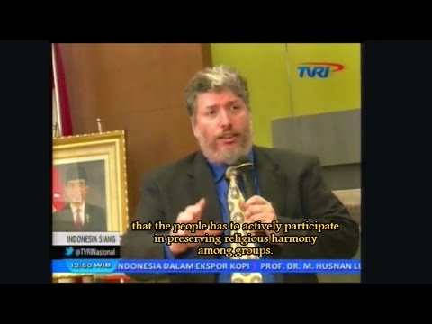 Rabbi Tovia Singer's Jakarta Seminar Covered on Indonesian TV