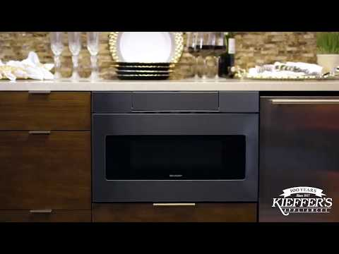 Sharp Black Stainless-Steel Microwave Drawer