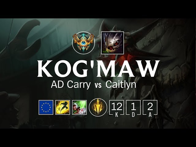 Kog'Maw AD Carry vs Caitlyn – EUW Challenger Patch 8.11 – LoL PRO Gameplay  – pomoq.net