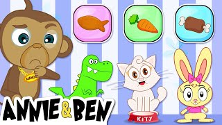 Pick The Correct One | Find The Cute Animals Food | Fun Puzzle Games For Kids By Annie & Ben
