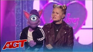 Darci Lynne, 15, Is BACK On America's Got Talent Indroduces Her NEW Puppet Friend Who Can RAP!