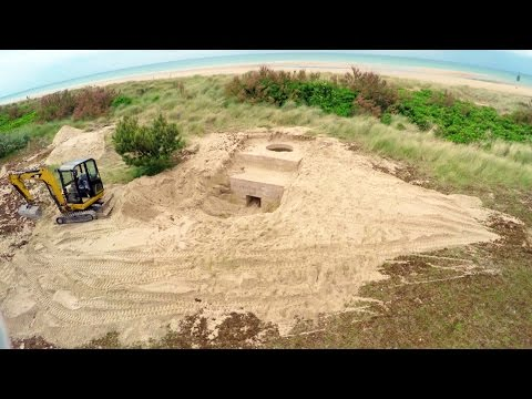 Canadian crew uncovers historic WWII bunker