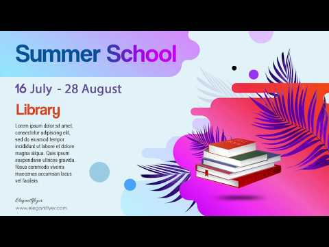 Summer School – Free Animated Instagram Stories + Instagram Post + Facebook Cover