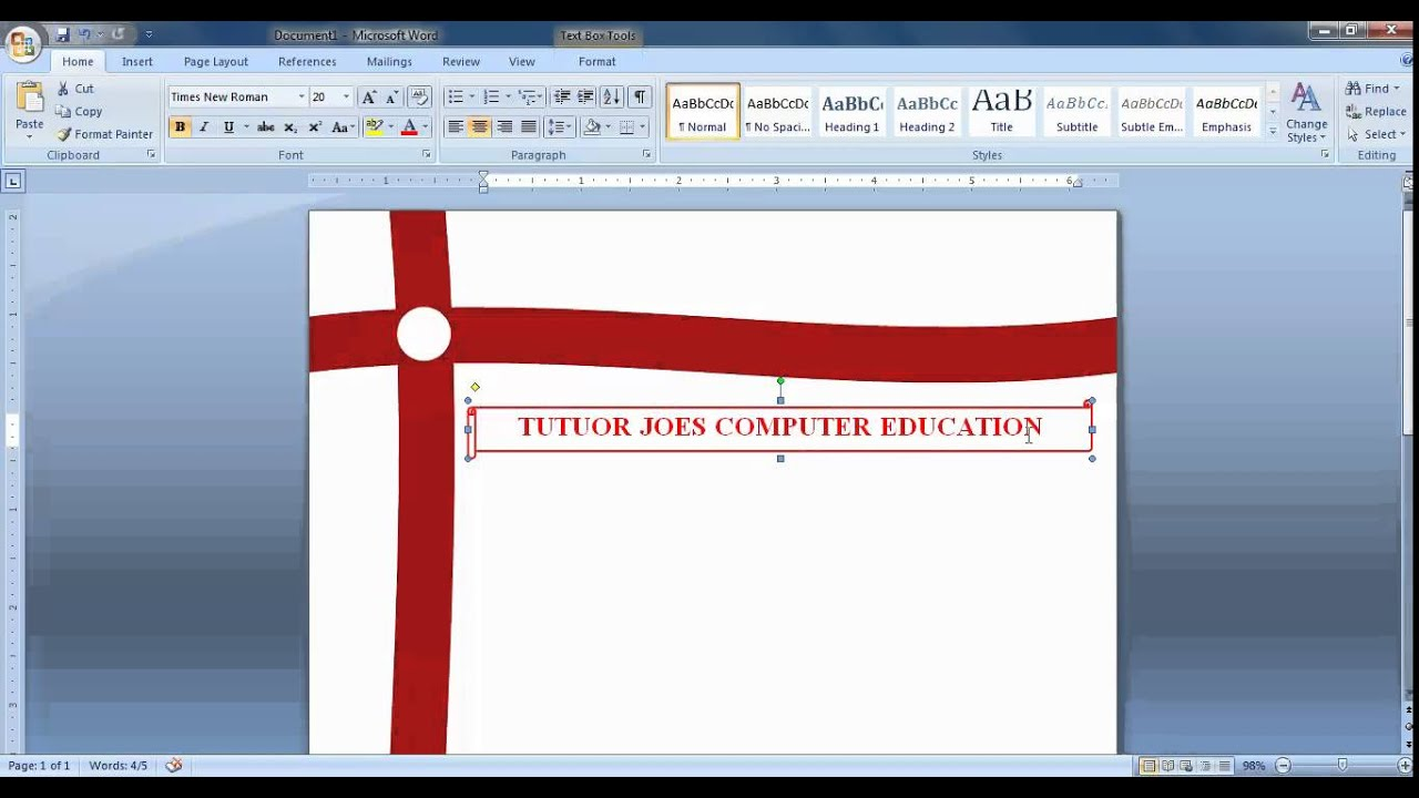 Create Cover Page In Microsoft Office Word Tamil Youtube