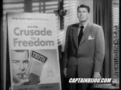 Ronald Reagan 1950s Crusade for Freedom commercial soliciting funds for radio Free Europe