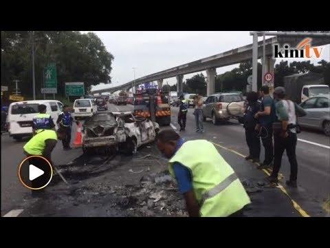 Kereta dibakar berhampiran kuil dialih polis
