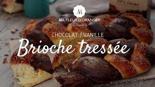Brioche tressée  chocolat vanille ( 4 brins)