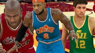 What If Lebron James Played In Michael Jordans Era? NBA 2K17
