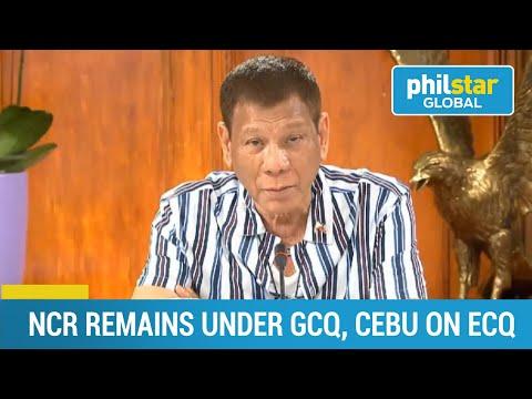 NCR still on GCQ, Cebu is placed under ECQ
