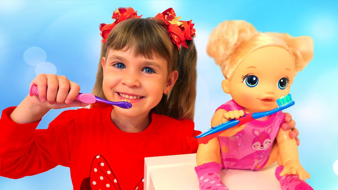 Arina Wake Up And Play With Baby Alive Doll Morning Routine Youtube