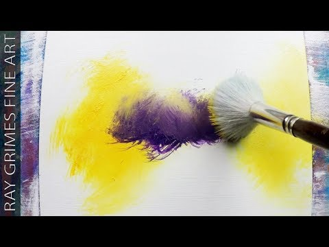Easy Landscape / 165 / Relaxing / Yellow and Purple / Abstract Painting / Demonstration