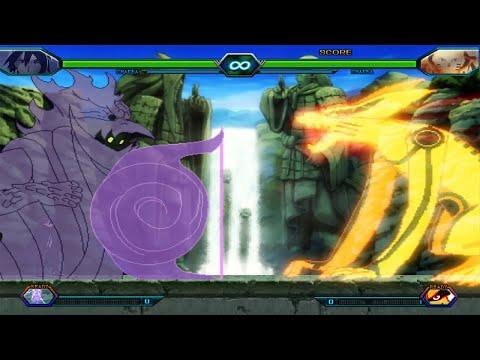 Hokage Naruto VS Adult Sasuke - Bleach Vs Naruto 3.3 (Modded)