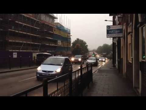 Traffic on Broadgate (A15) - Lincoln, UK