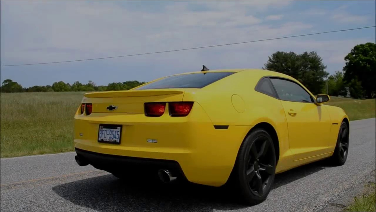 2012 Camaro V6 with MBRP Axle-Back Exhaust (Before and After)