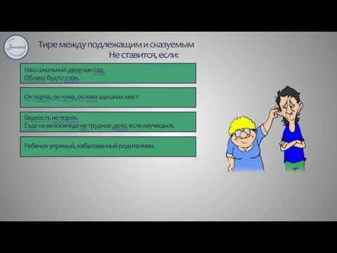 Русский язык  8 класс. Тире между подлежащим и скажуемым