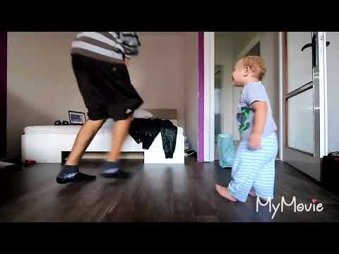 Hip-hop dance by dad and son on bade miya chote Miya By Musicbang