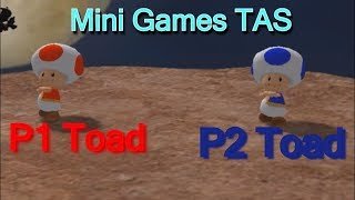 Mario Party 8 PAL - Mini Games [TAS] With 2 Players and new toad characters P1 Toad And P2 Toad