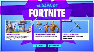 14 DAYS OF FORTNITE! NEW FROZEN PICKAXE! DAY 11 REWARD! FORTNITE BATTLE ROYALE!