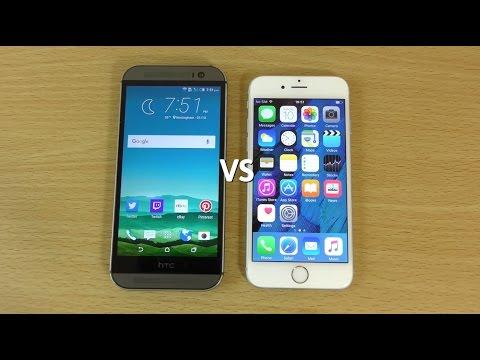 HTC One M8 Sense 7 Marshmallow VS iPhone 6s - Speed Test!