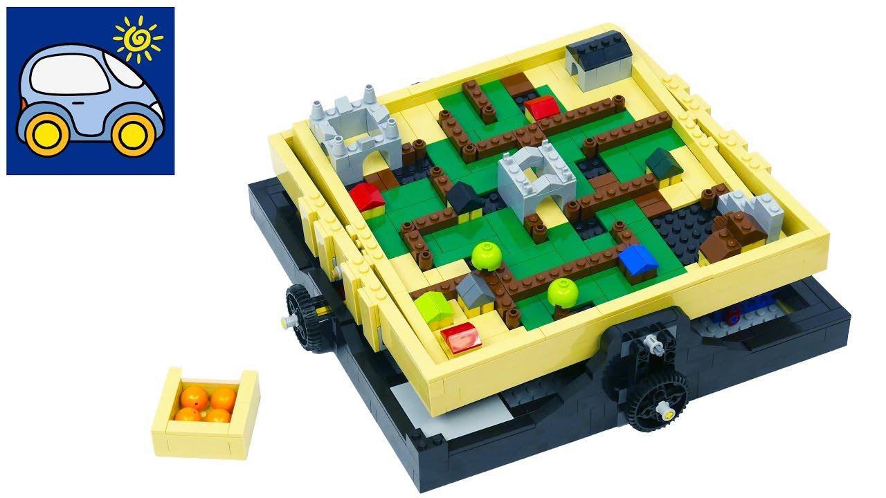 Лего Лабиринт для шарика и папы — как папа Илюшу искал с картой от Lego Maze. Картонка