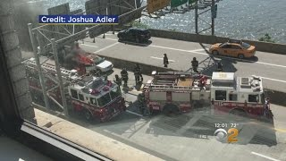 Car Catches Fire On FDR Drive