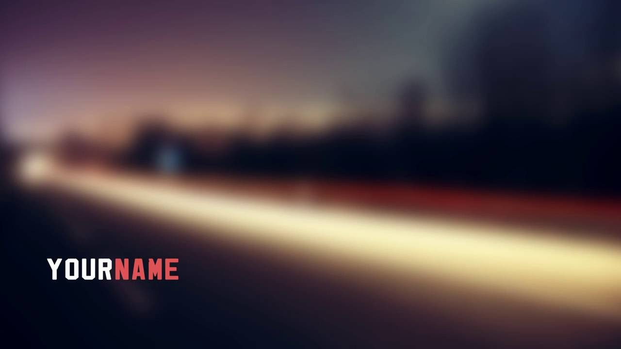 adobe after effect intro templates - blurred road background adobe after effects intro template