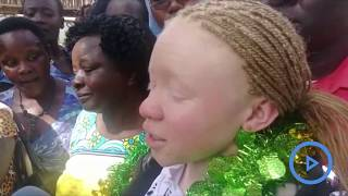 Girl with albinism tops country in KCPE with 455 marks