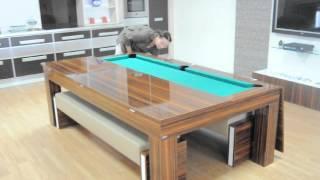 Dining Pool Table Video.avi KoraltÜrk Bİlardo Bİlardolu Yemek Masasi-dining Pool Tables