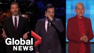 Kobe Bryant death: Jimmy Fallon, Jimmy Kimmel, and Ellen DeGeneres deliver emotional tributes