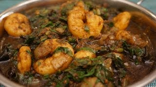 Indian Curry - Sag King Prawn Spinach Shrimp How To Cook Great Food Masala