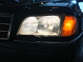 Headlight Lens Replacement Repair - Broken Glass - Mercedes W202, C-Class