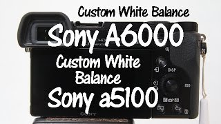 Sony A6000 and Sony a5100 Custom White Balance