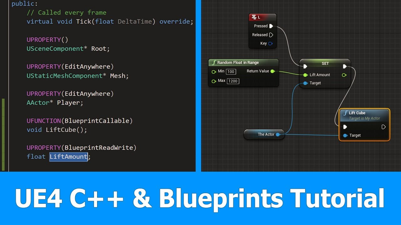 Unreal Engine 4 : C++ and Blueprints Tutorial - YouTube