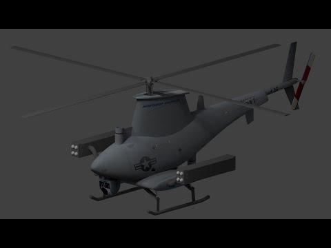 making of RQ-8 firescout UAV in blender
