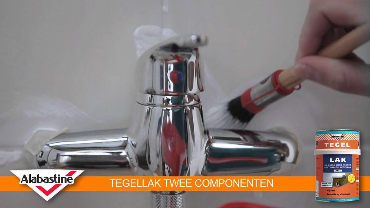 How to  Tegellak 2 Componenten  Alabastine  YouTube