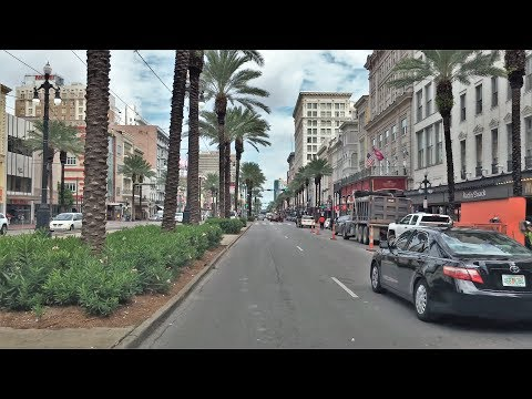 Driving Downtown 4K - New Orleans' Main Street - USA