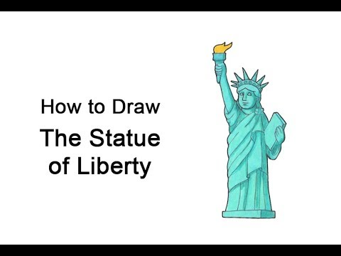 How to Draw the Statue of Liberty - YouTube