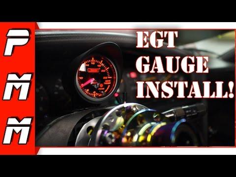 EGT Gauge Installation 1JZGTE MKIII Supra ProSport Exhaust Gas Temperature Gauge
