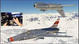 WarThunder GoPro F100D Jet Fighter!!  Recreating Top Gun Scene/Mach 1 Speeds