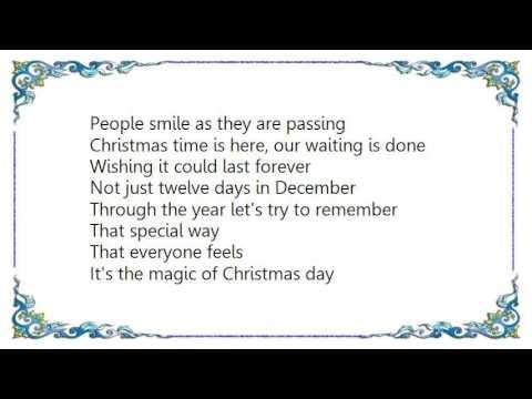 Céline Dion - The Magic of Christmas Day God Bless Us Everyone Lyrics - YouTube
