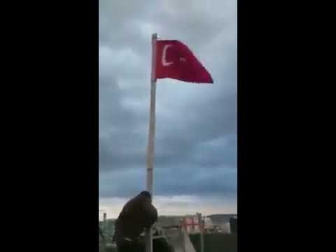 CİZRE semalarında bayrak dikimi