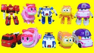 Tobot, super wings, Robocar poli,Gogo Dino,Robot train Toys
